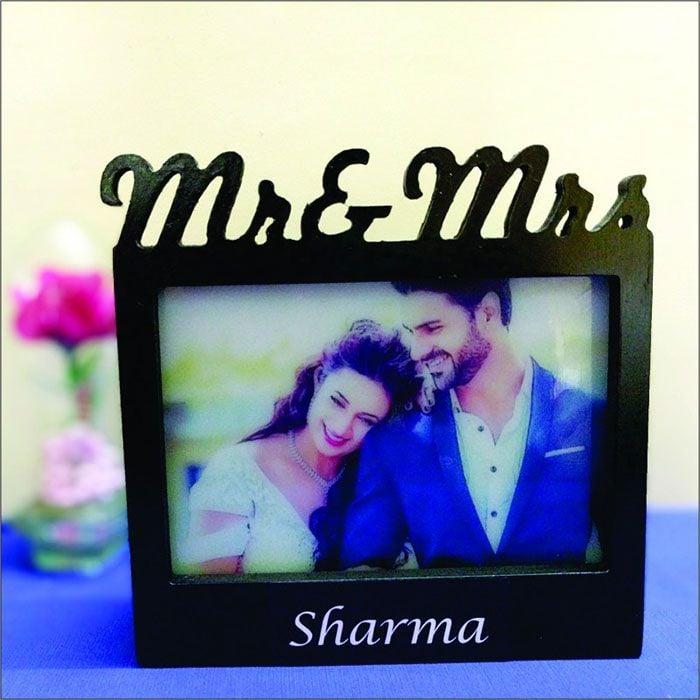 Mr & Mrs Photo Frame Lamp