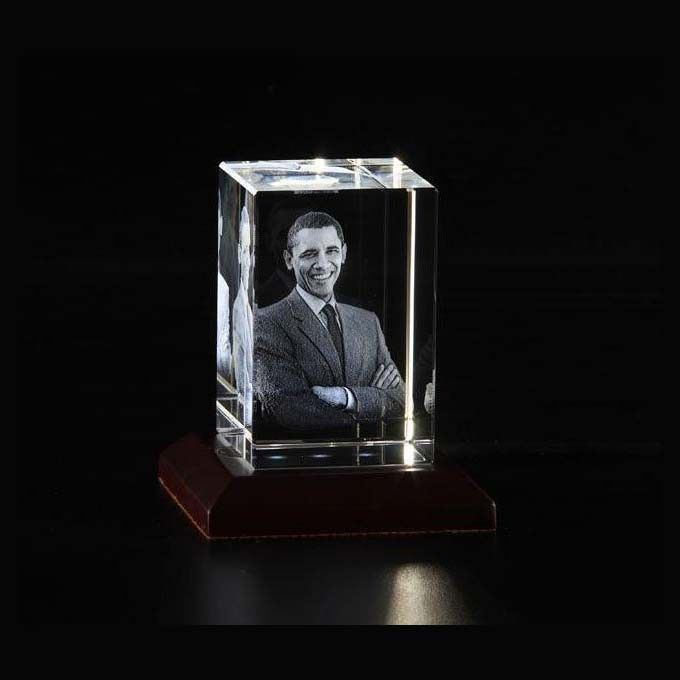 PERSONALISED 3D PHOTO CRYSTAL RECTANGLE SHAPE