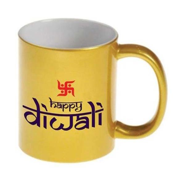 Golden Happy Diwali  Mug