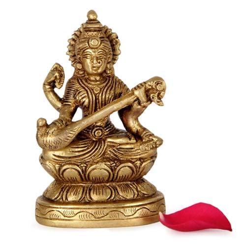 Brass Sarawati Statue