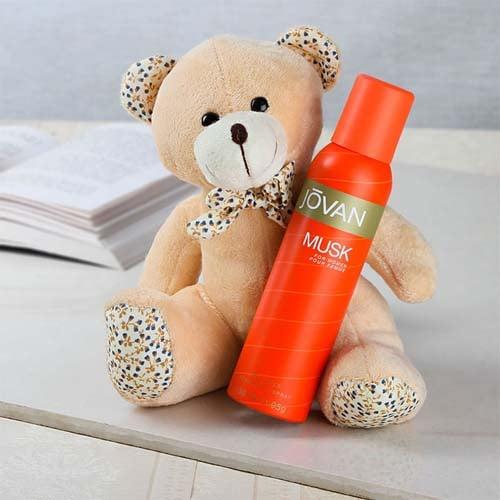 Jovan Musk Deo With Teddy Bear
