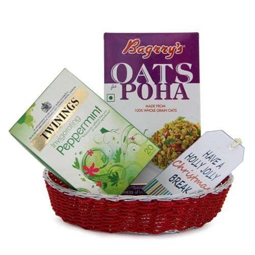 Green Tea N Poha Basket