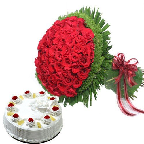 Roses N Pineapple Cake