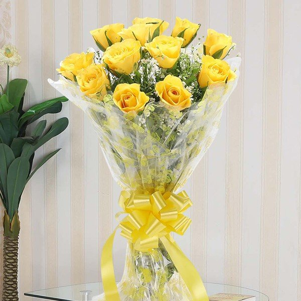 Passionate Yellow Roses
