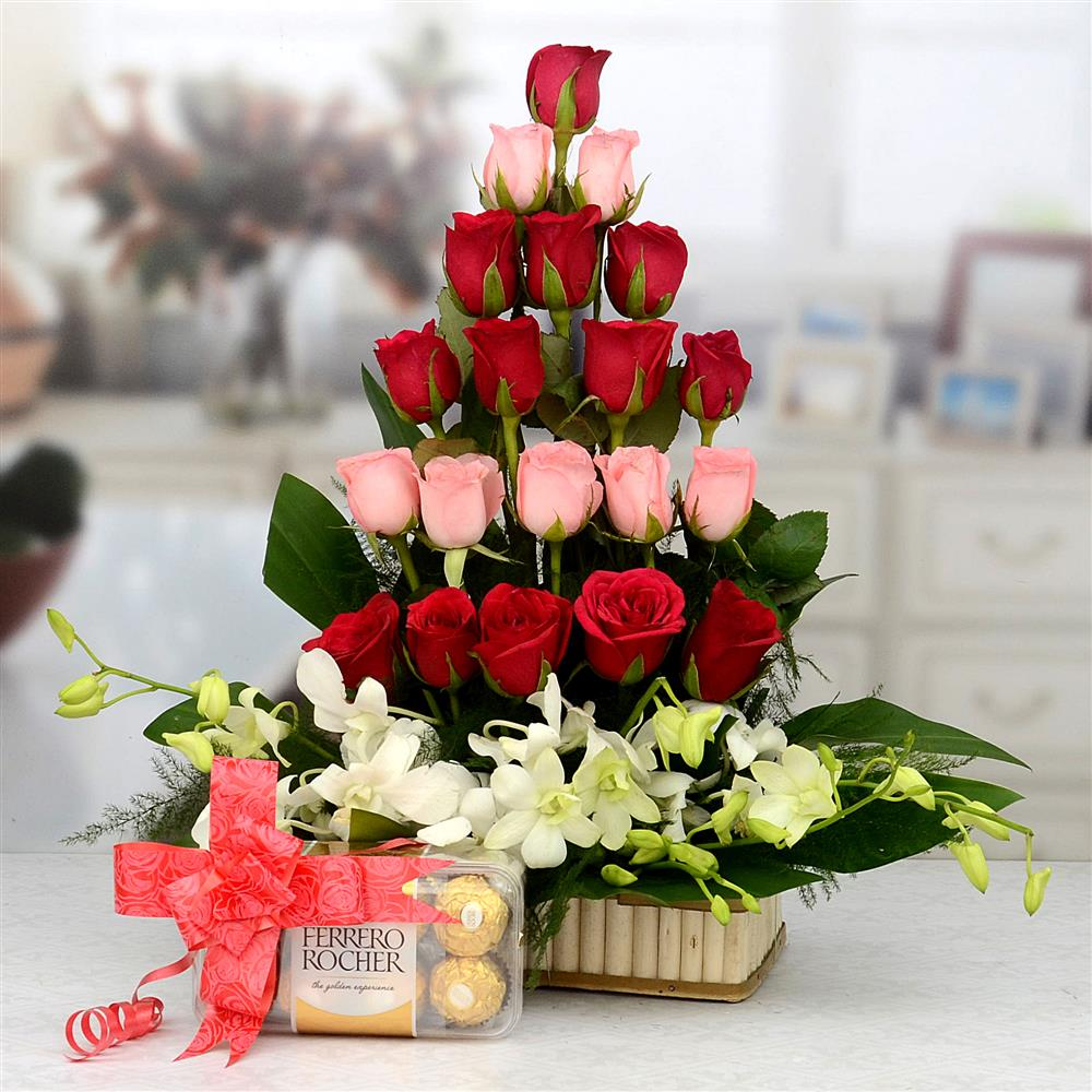 Multi-colour Flowers and Chocolate
