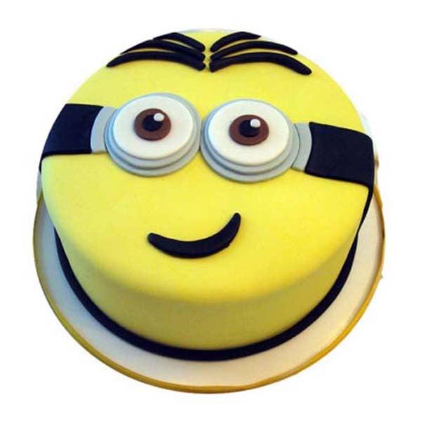 1 kg  Minion Smiling Fondant shape cake