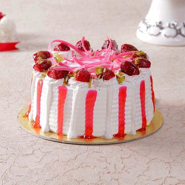 Delicious Round Strawberry Cake