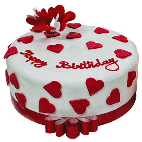 Heart Birthday Cake 1 kg