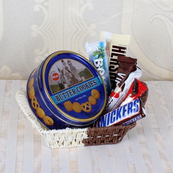 Basket of Cookies and Chocolates