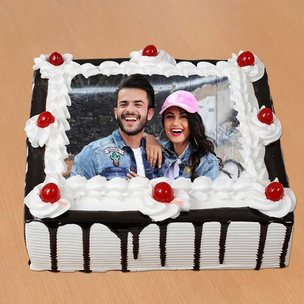 Black Forest Photo Cake Wishes