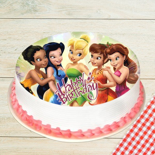 Sweet Fairies Photo Pineapple Cake