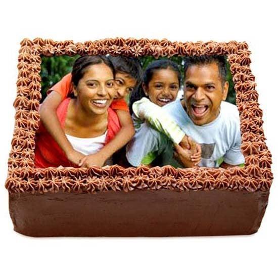 Delicious Chocolate Photo Cake