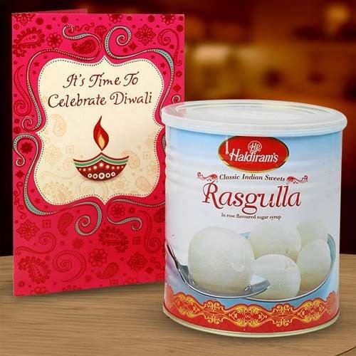 RASGULLA & DIWALI CARD HAMPER