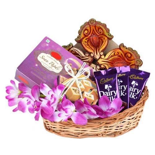 Chocolate, Sweets & Diya
