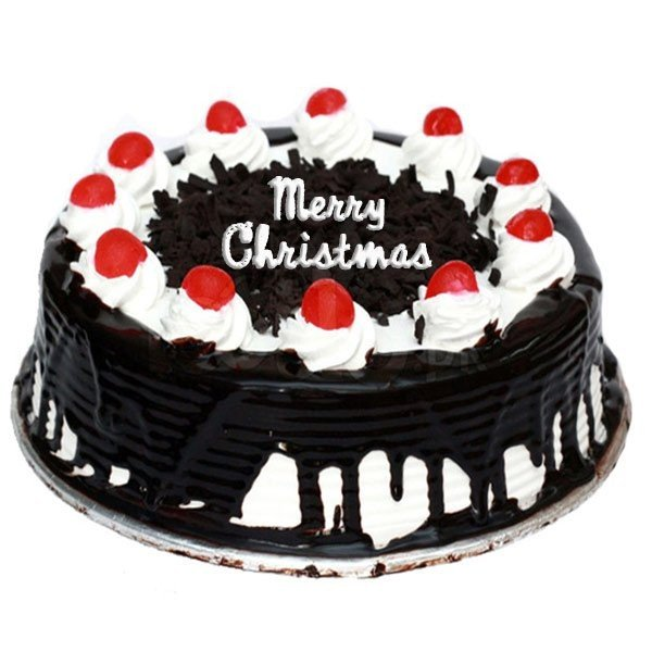 Christmas Blackforest Cake Half Kg