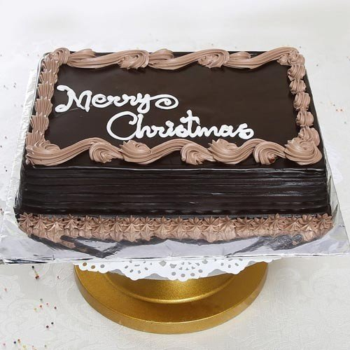 One Kg Square Christmas Chocolate Cake