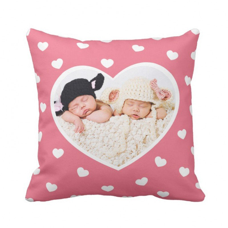 Sweet Hearts Custom Photo Pillow