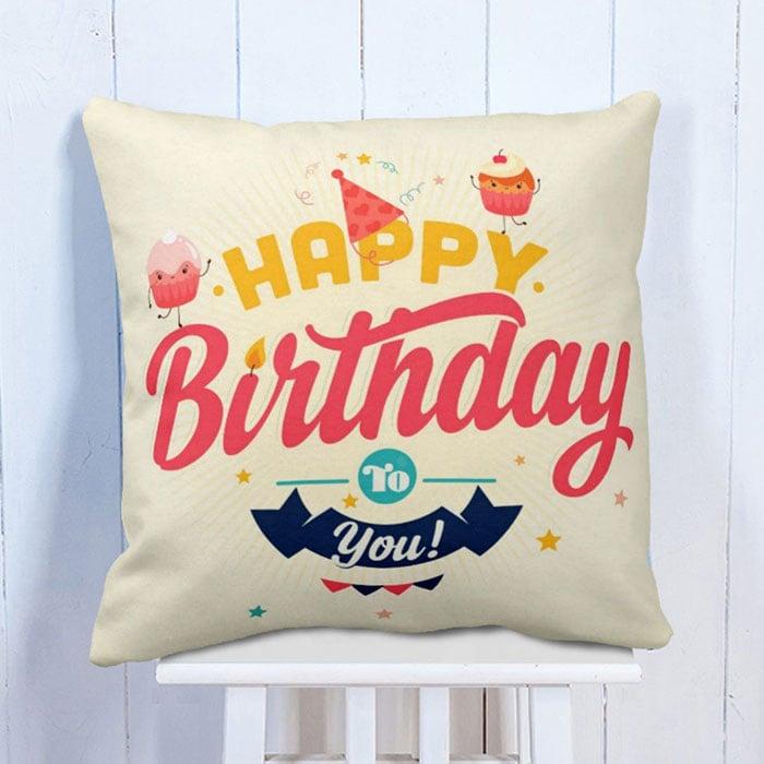 Birthday Wish Printed Cushion