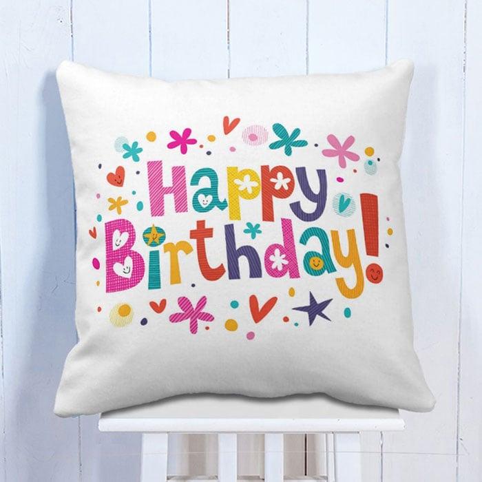 Happy Birthday Heart Cushion