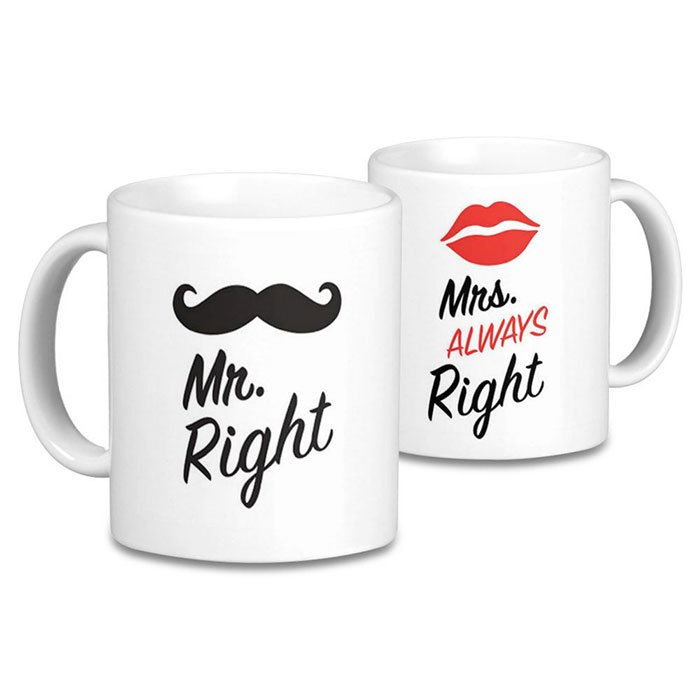 The Mr. & Mrs. Right Mugs