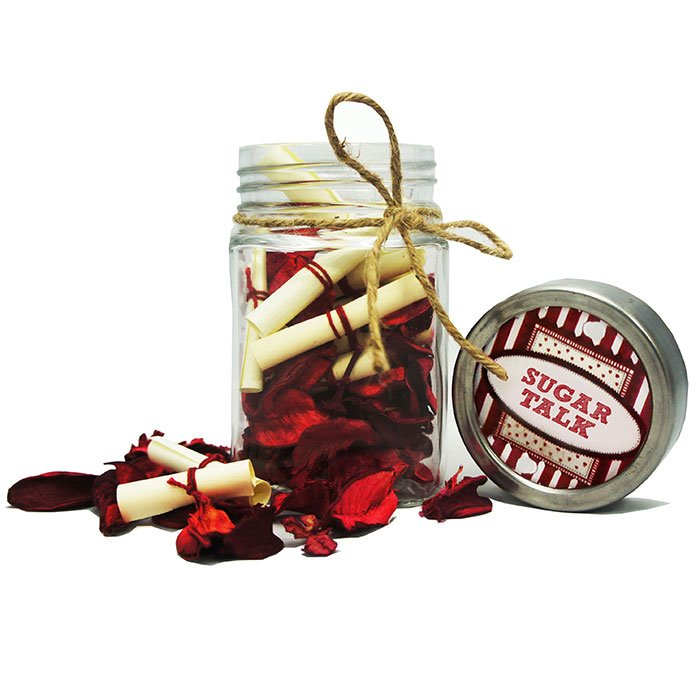 Personalised Glass Jar with Notes