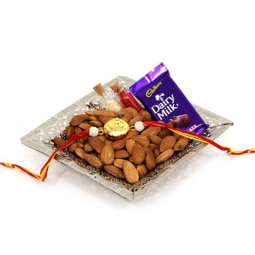Almonds Platter On Rakhi