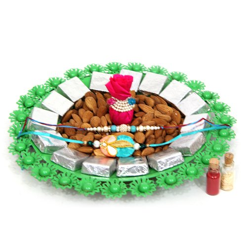 Special Almonds Tray On Rakhi