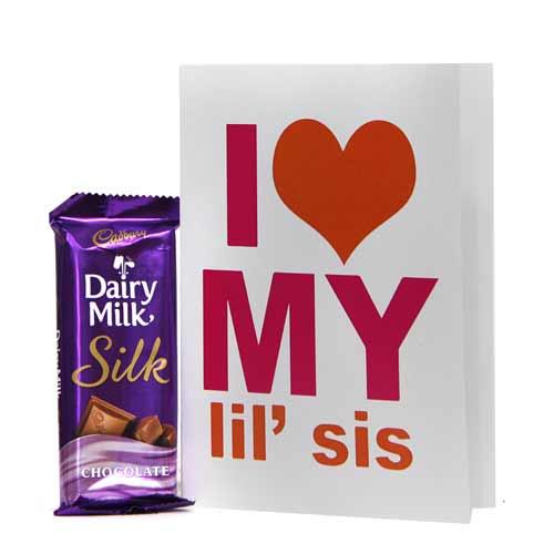 Greeting Card n Silk Chocolate