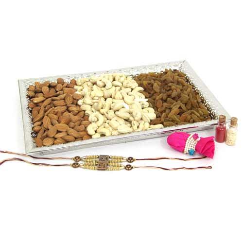 Rakhi Dryfruit Platter