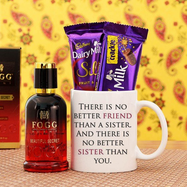 Beautiful Hamper With Quoted Mug For Sister
