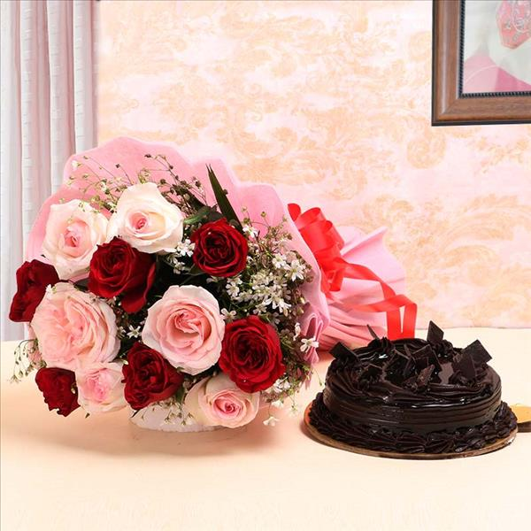 Flwers and cake delivery online