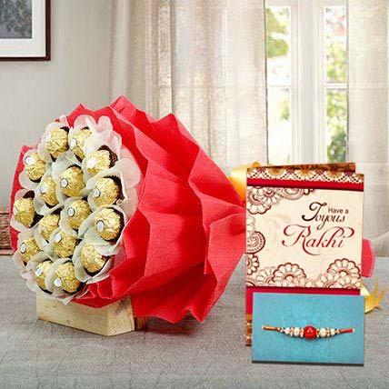 Rakhi Rocher Choco Bouquet
