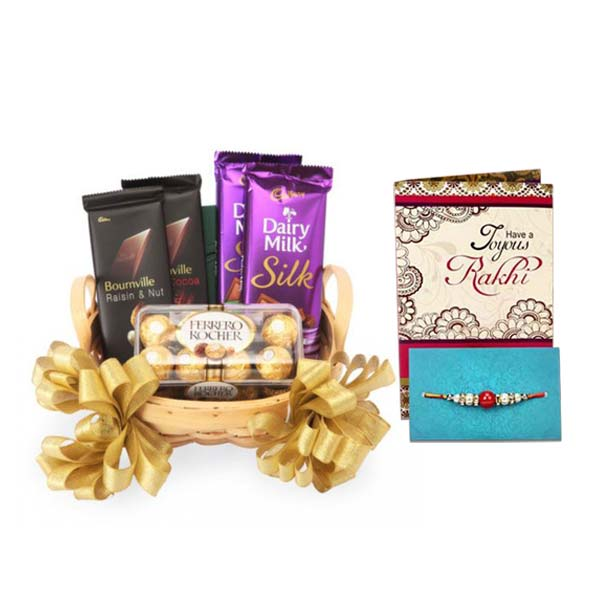 Rakhi And Feast of Chocolates Hamper