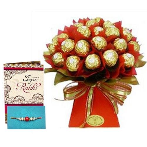 Rakhi Bouquet of Chocolates