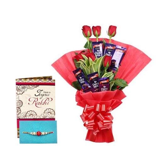 Rakhi Chocolate Rose Bouquet