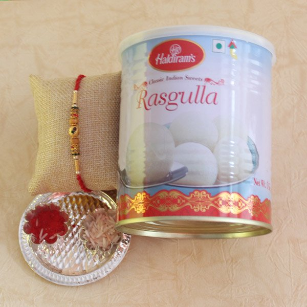 Sweet Rasgulla with Rakhi Surprise
