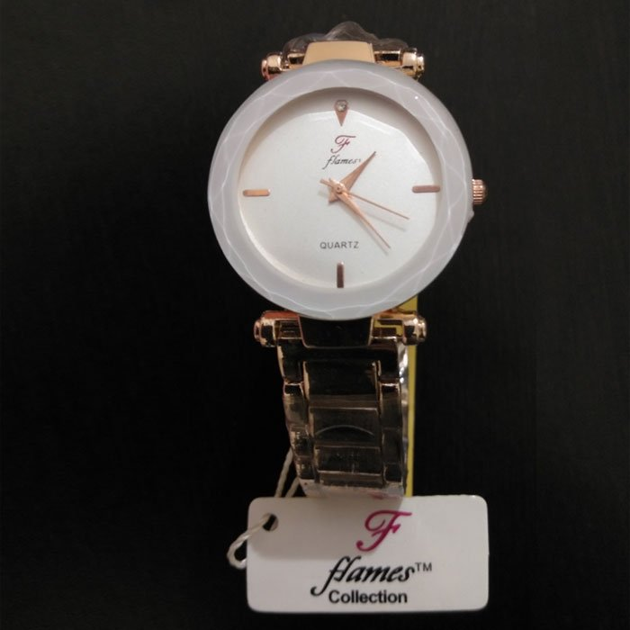 Flames Limited Edition Cream Color Watch