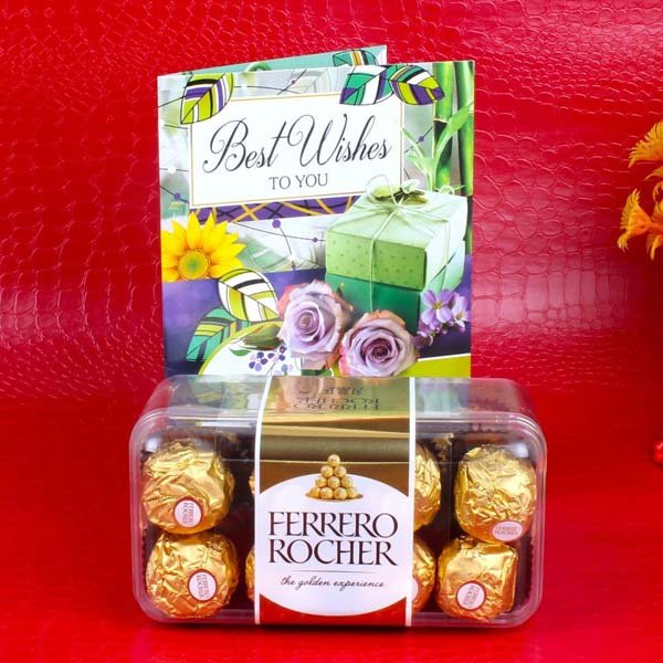 Ferrero Rocher Box with Best Wishes Card