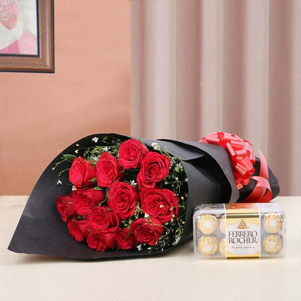 Birthday Flowers and Chocolate Online India