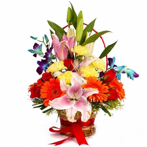Vivid Designer Floral Basket
