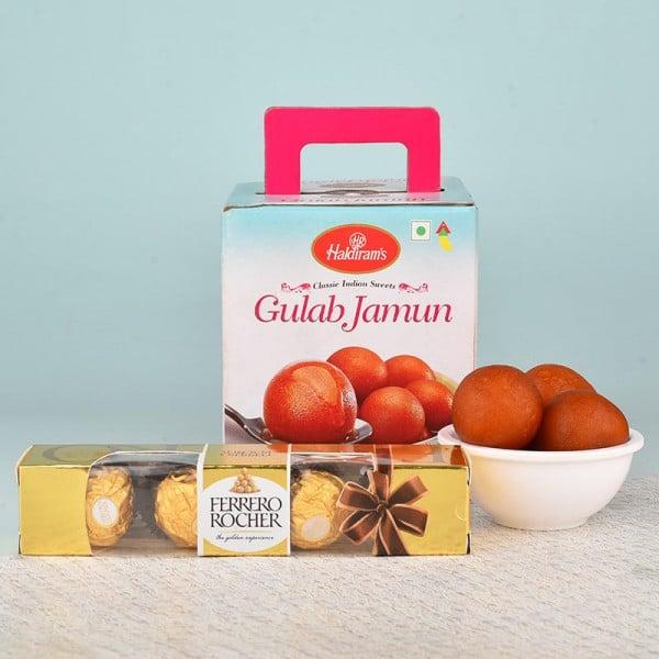 Gulab Jamun N Ferrero Rocher