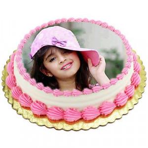 1kg Photo Cake Pineapple