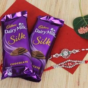 2 Dairy Milk Silk With Rakhis