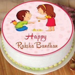 Rakhi Pineapple Photo Cake