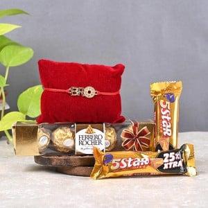 5 Start with Ferrero Chocolate Rakhi Gift