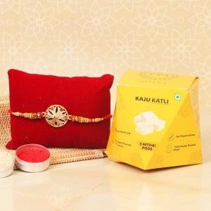 Rakhi With Kaju Katli Set