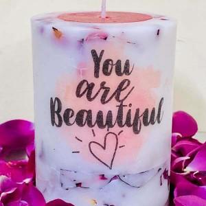 You R Beatiful Rose Sandle Pillar
