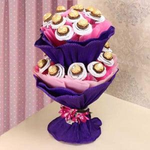 2 tier Ferrero Rocher Bouquet
