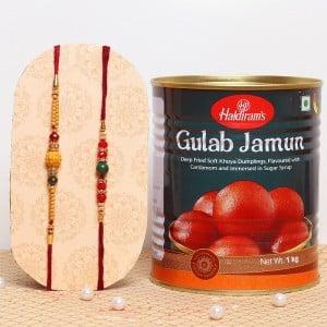 Gulab Jamum with Rakhi