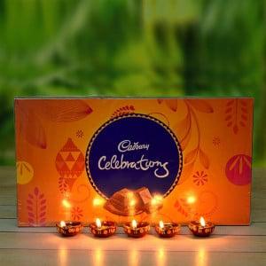 Diwali Diyas and Celebration box